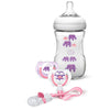 Philips Avent Natural Deco Design Bottle 260ml Gift Set - Pink