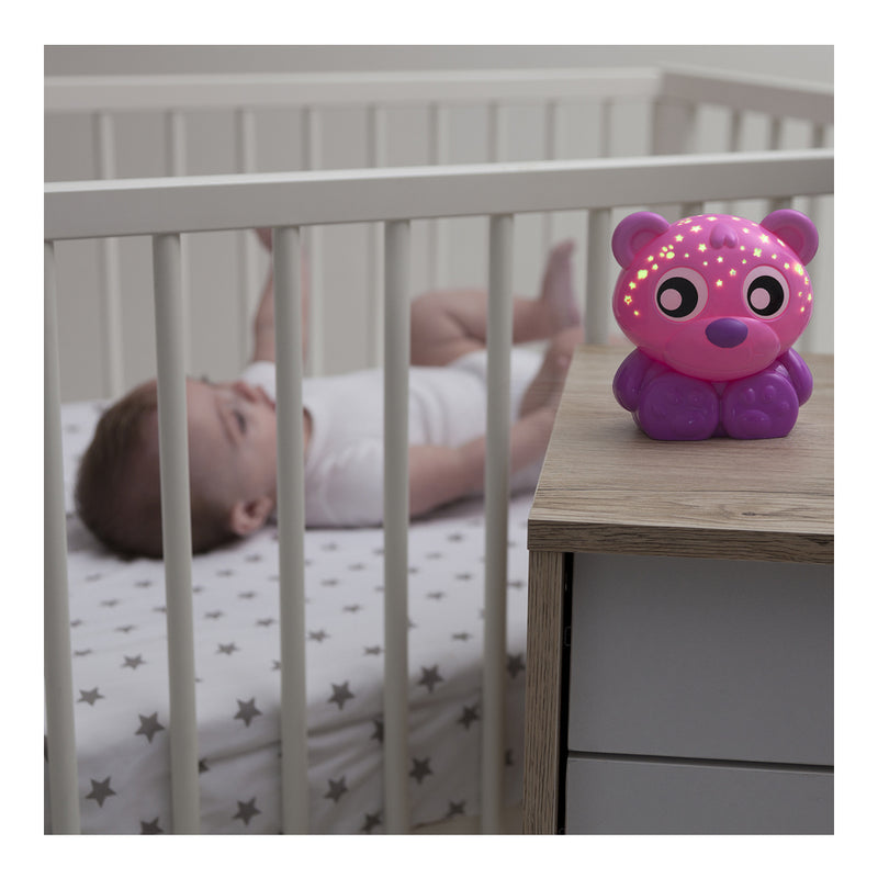 Playgro Goodnight Bear Night Light and Projector - Pink