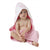 Playgro Pink Star Hooded Towel - Pink & White