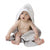 Playgro Grey Star Hooded Towel (Grey & White)