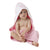Playgro Pink Star Home Hooded Towel (Pink & White)