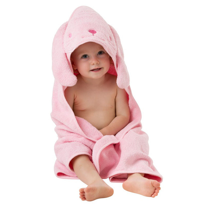 Playgro Hooded Towels -Bunny (Pink)