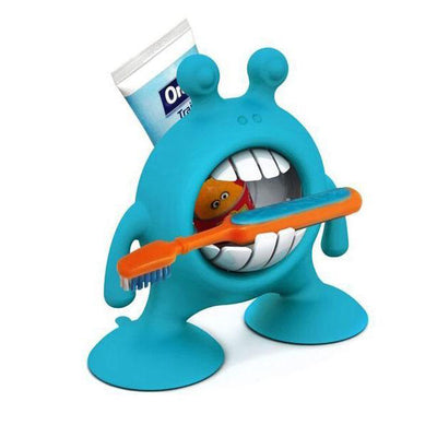 Prince LionHeart Eye Smile toothbrush and paste storage - Berry Blue