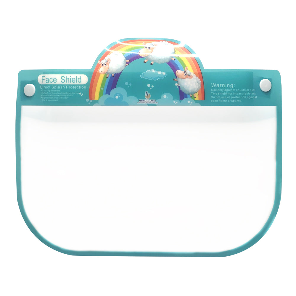 "Kids Face Sheild Design ""Rainbow with Sheep"""