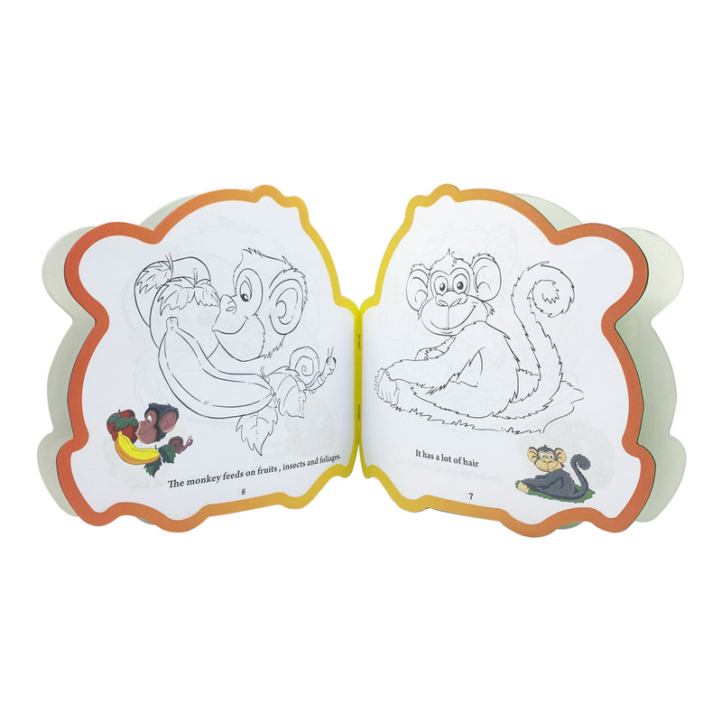 Read, Color & Learn, The Active Monkey