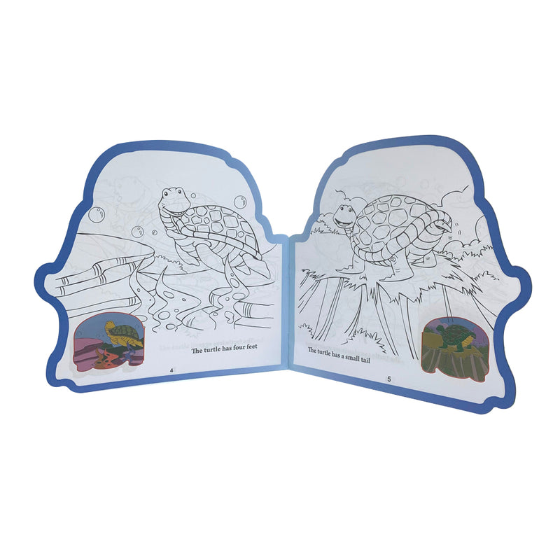 Read, Color & Learn, The Strong Turtle, English