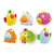 Olmitos Set 6 Bath Toys Squirters Birdies