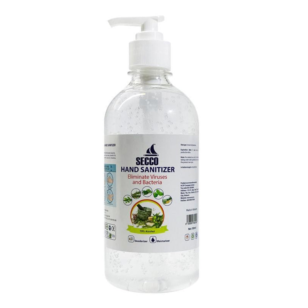 SECCO DRAY HAND SANITIZER GEL 500 ML WITH PUMP