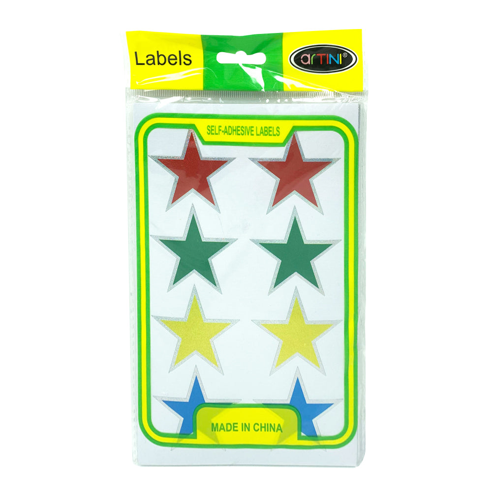 Self-Adhesive Big Stickers Stars ( Multicolor ), 8