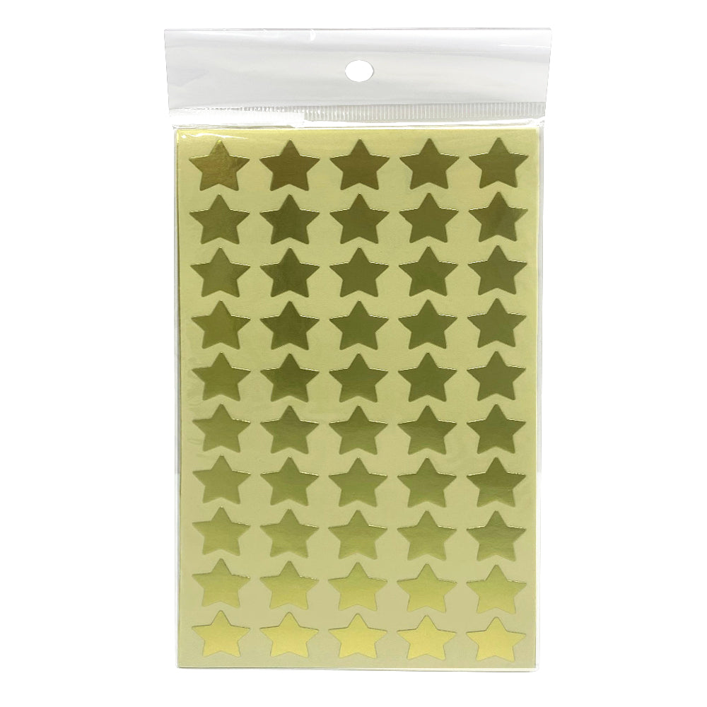 Self-Adhesive Stickers Stars (Gold), 50
