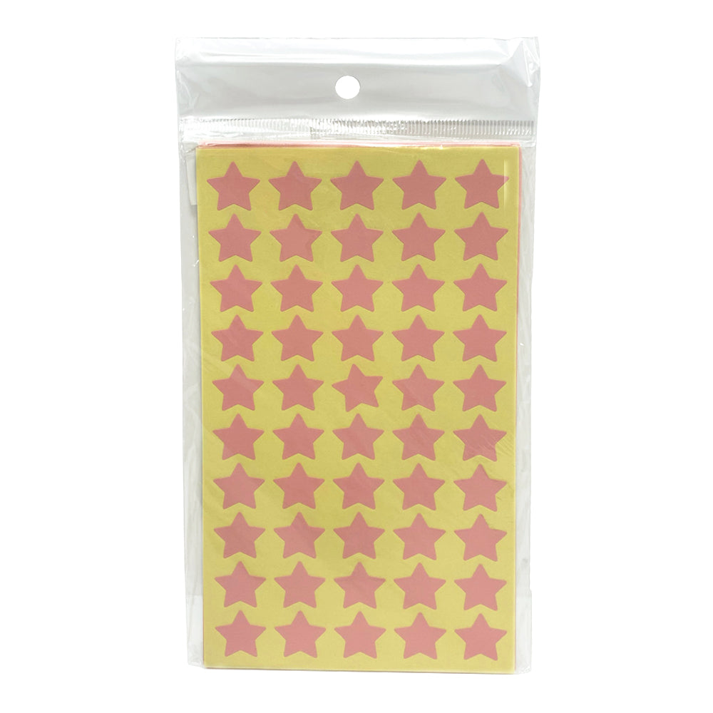Self-Adhesive Stickers Stars (Pink), 50