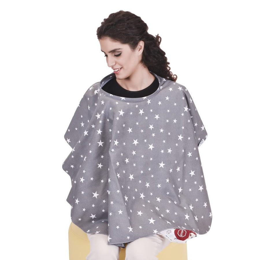Sevi Bebe Breastfeeding Nursing Cover - Grey