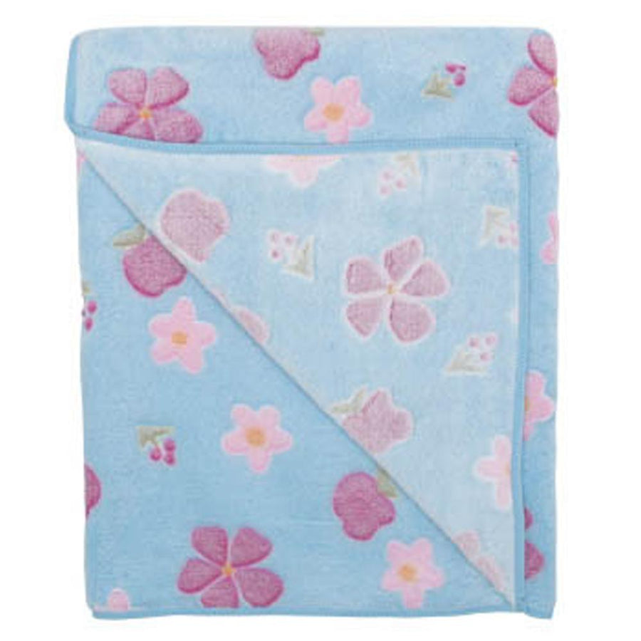 Sevi Bebe Floral Fleece Blanket - Blue