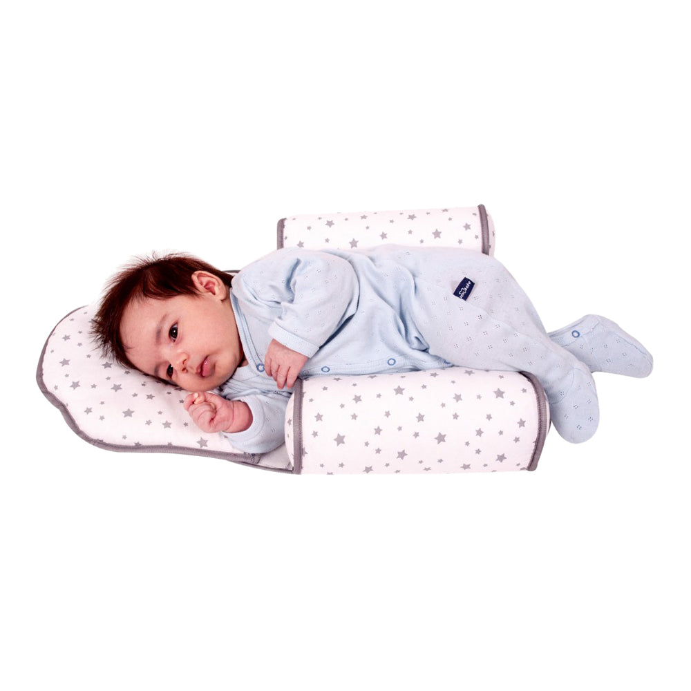 Sevi Bebe Baby Head Shaping Pillow and Sleep Positioner - Grey