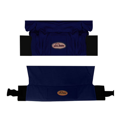 Sevi Bebe Wrap Sling With Waist Belt - Dark Blue