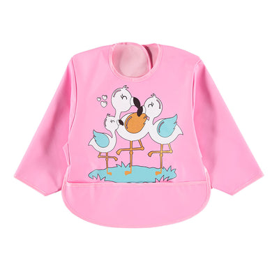 Sevi Bebe Long Sleeved Bib - Flamingo