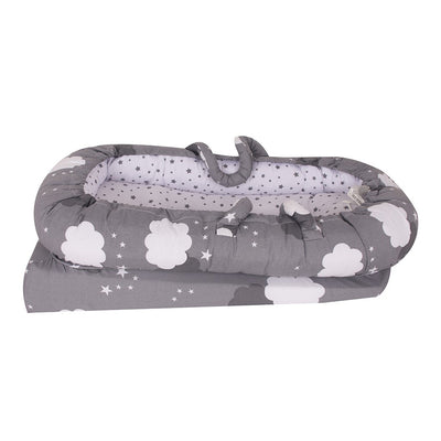 Sevi Bebe Mother Side Baby Reflux Bed - Grey Cloud