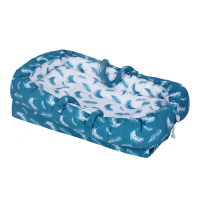 Sevi Bebe Mother Side Baby Reflux Bed - Feather Pattern