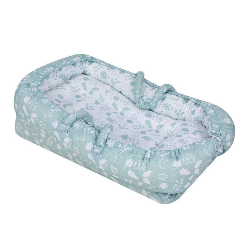Sevi Bebe Mother Side Baby Reflux Bed - Leaf Pattern
