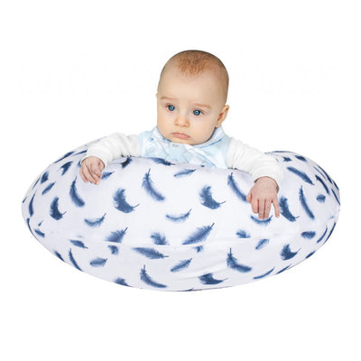 Sevi Bebe Multifunctional Pregnancy & Breastfeeding Pillow with Internal Cushion - Feather Pattern