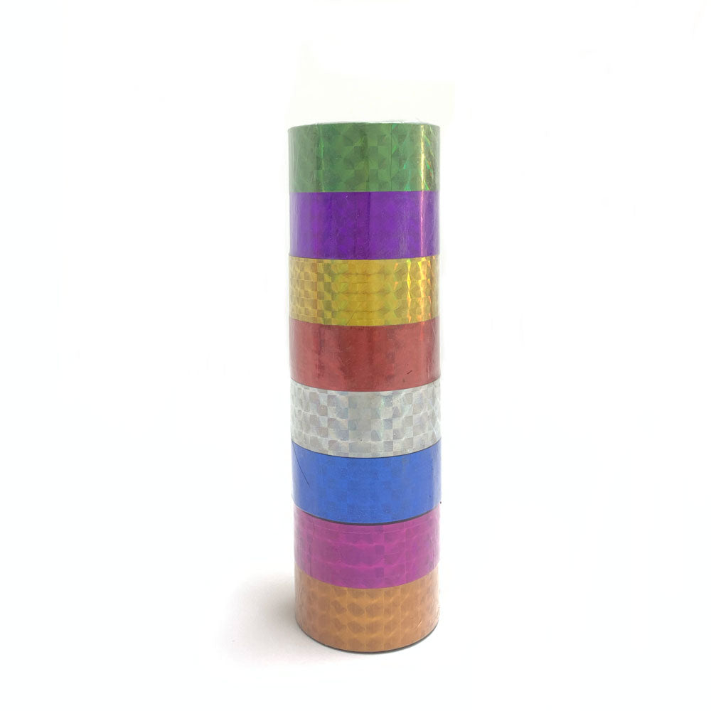 Shimmering scotch colorful tape, 8 pieces