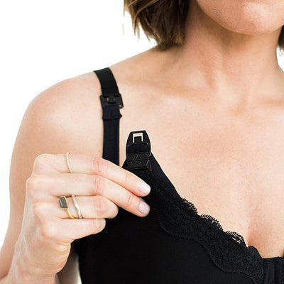 Simple Wishes Supermom All-in-One Bra - Black