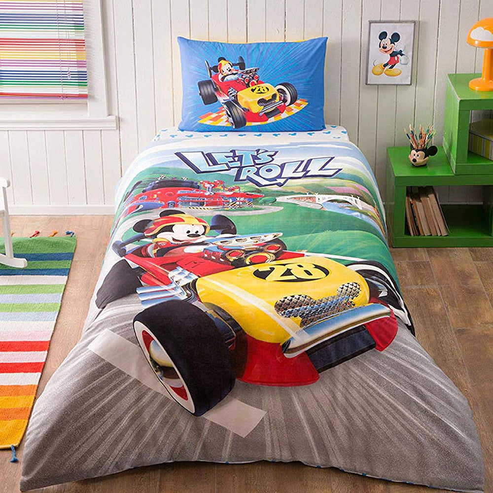 Tac Single Mickey and the Roadster Racers Duvet Cover Set