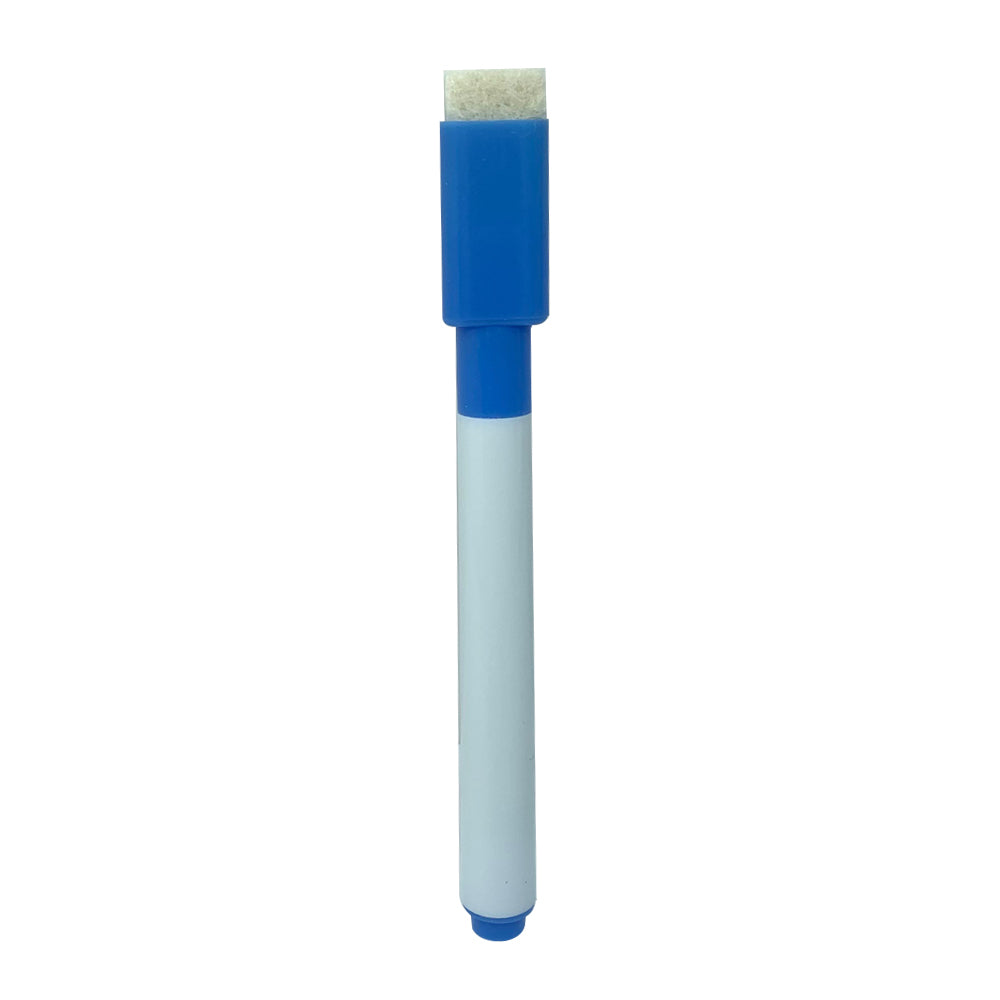 Slim Whiteboard Marker with Duster, Blue
