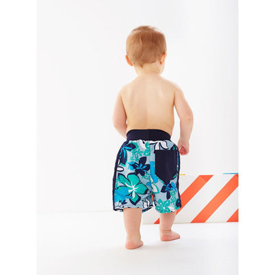 Splash About Happy Nappy Board Shorts Hibiscus