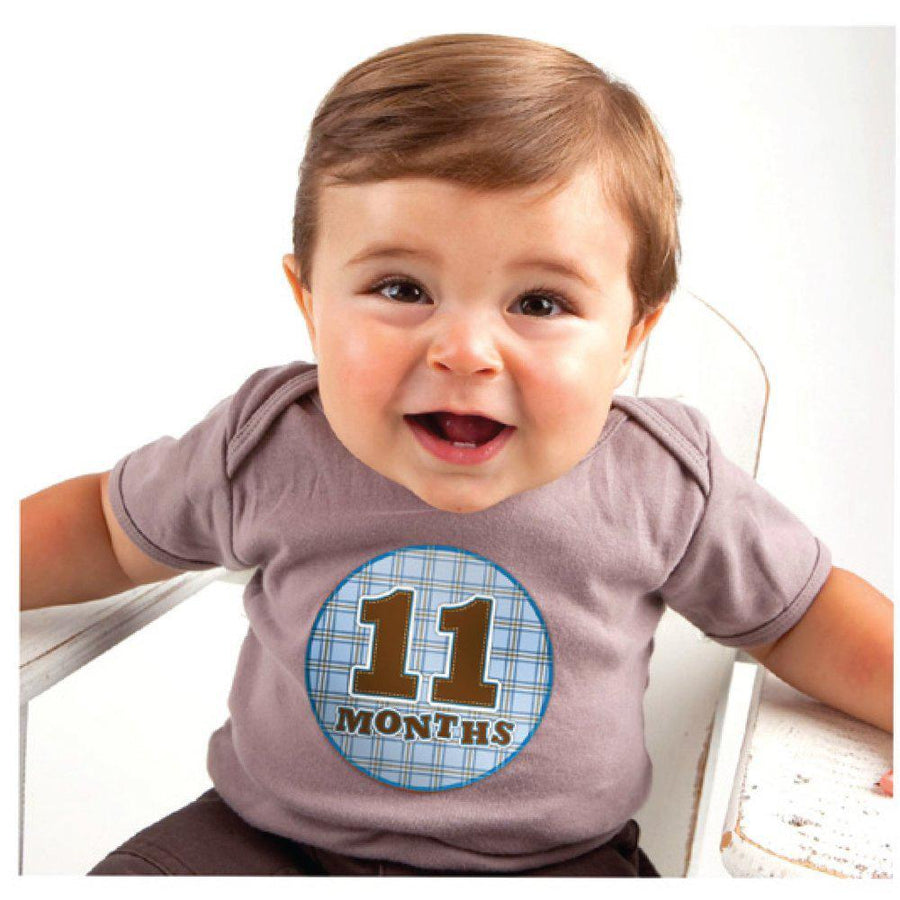 Sticky Bellies Stickers: Newborn OhSew Handsome - 0-12 Months