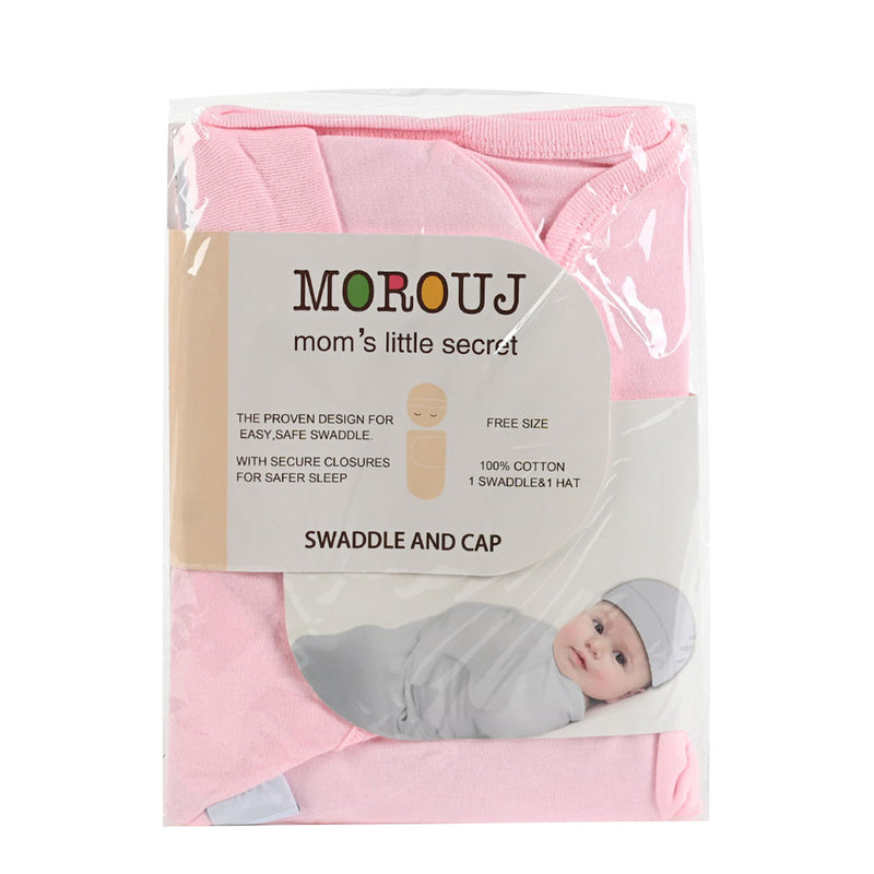Swaddle and Cap, Pink