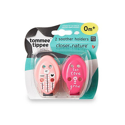 Tommee Tippee Closer to Nature  Soother Holders, pack of 2
