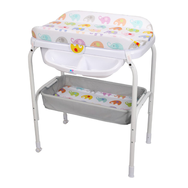 TheKiddoz 2 in 1 Bath and Changing table - Elephant World