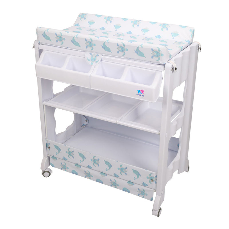 TheKiddoz 2 in 1 Changing Table with Bathtub, Sea World