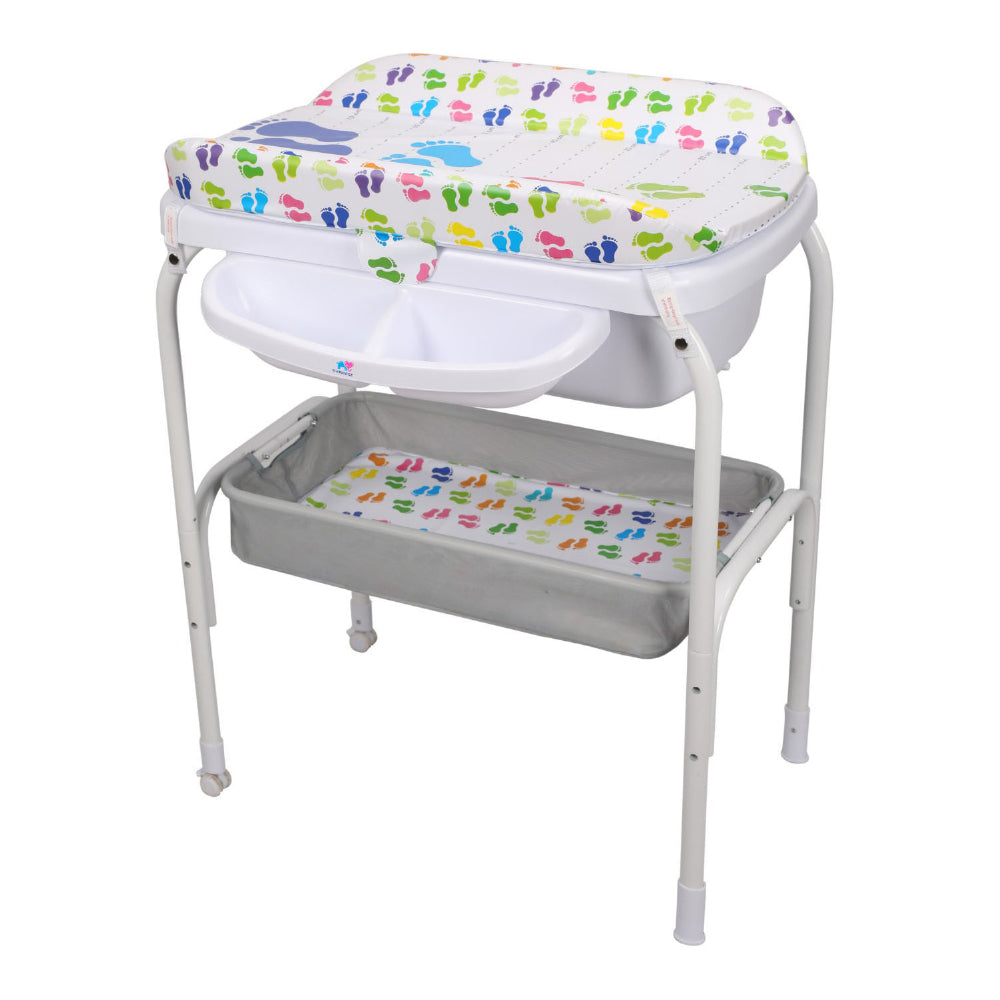 TheKiddoz Bath and Changing Table - Tiny feet