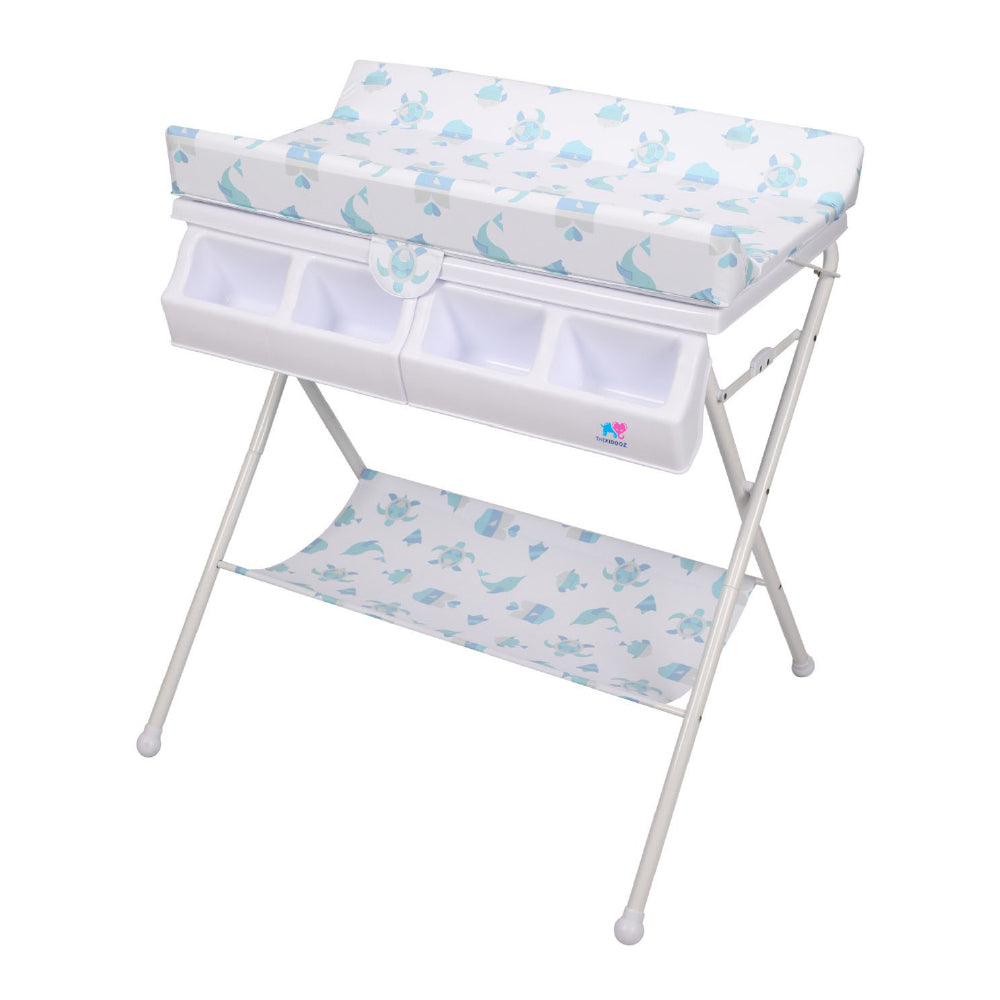 TheKiddoz Folding Anatomic Baby bath and Changing table - Animal Design