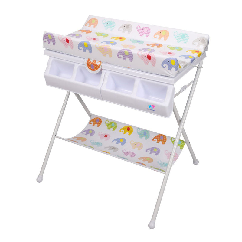 TheKiddoz Folding Anatomic Baby bath and Changing table - Elephant World