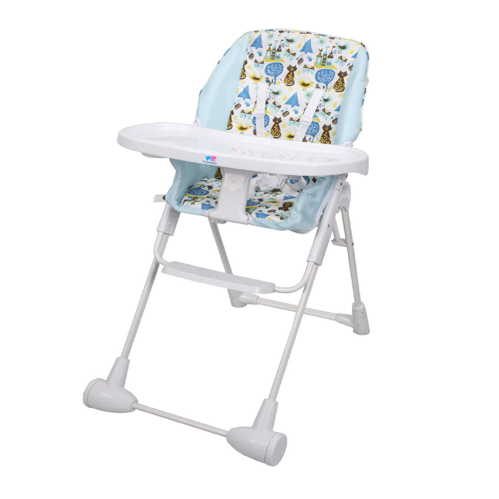 TheKiddoz Happy Forest High Chair, Blue