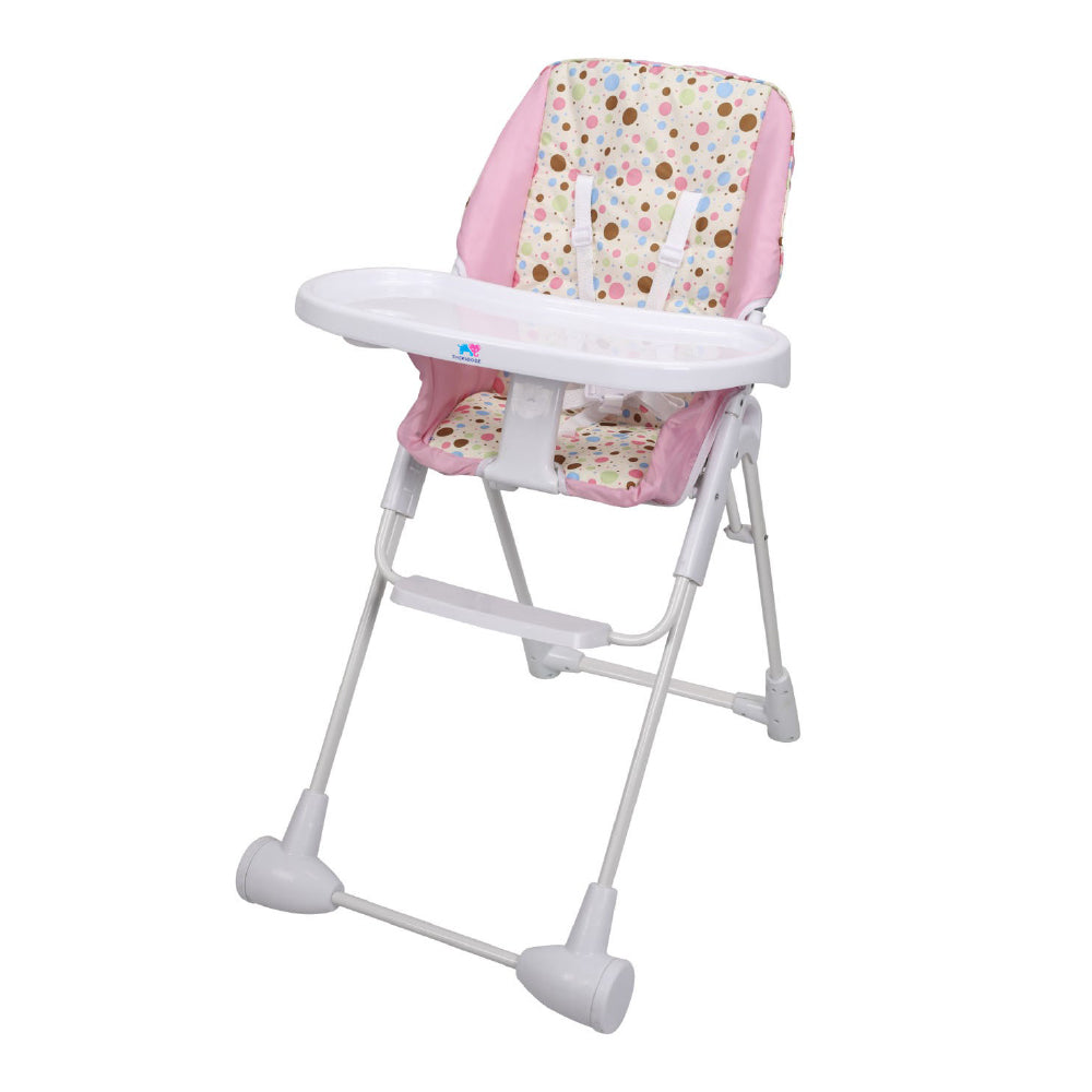 TheKiddoz Happy Polka High Chair, Pink