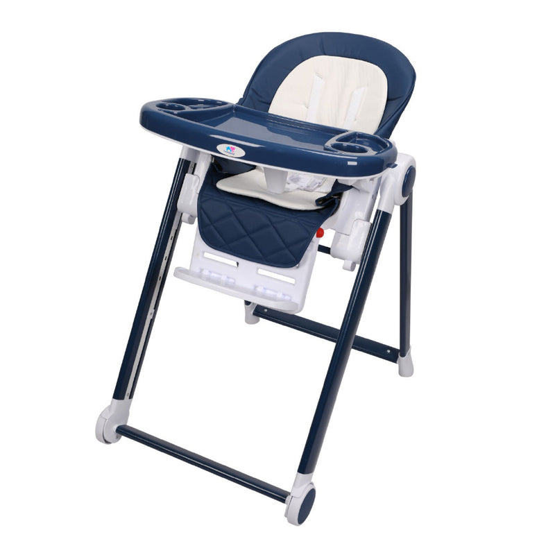 TheKiddoz High Chair with Adjustable Pedals - Navy Blue