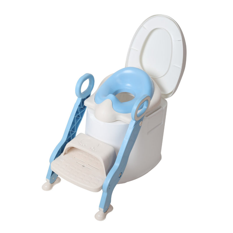 TheKiddoz Potty Toilet Seat with Step Stool Ladder, Blue