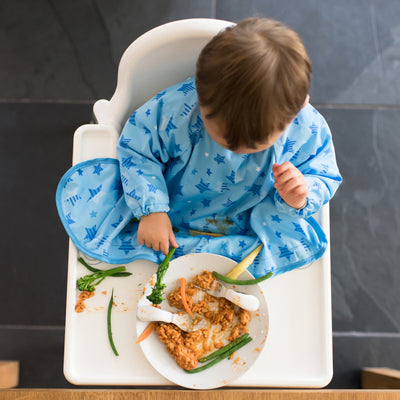 Tidy Tot Cover and Catch Bib - Blue