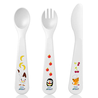 Philips Avent Toddler Fork, Spoon And Knife 18 Months +