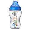 Tommee Tippee Closer To Nature Easi-Vent Decorative Feeding Bottle Blue, 340Ml Pack of 2