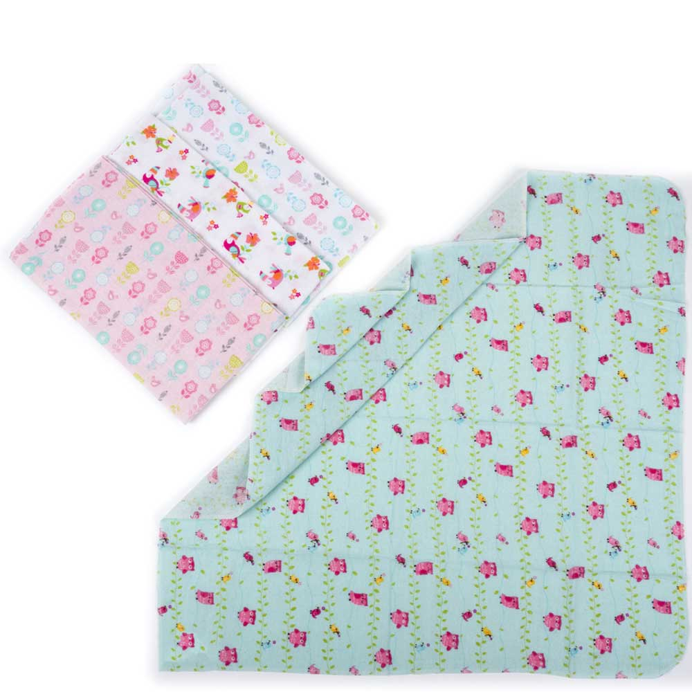Toucan & Roses - Flannel Swaddle Receiving Baby Blanket