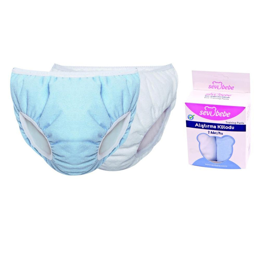 Sevi Bebe Training Pants - 2 Pieces - Blue and White