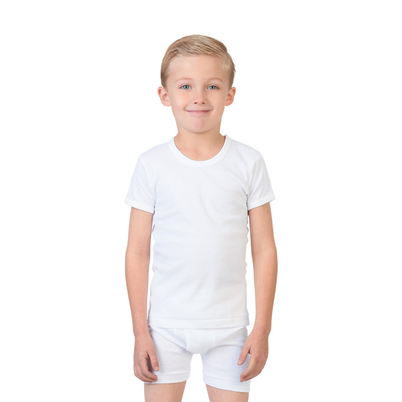 Try Boy Shirt and Boxer Set White, 1-2 Years
