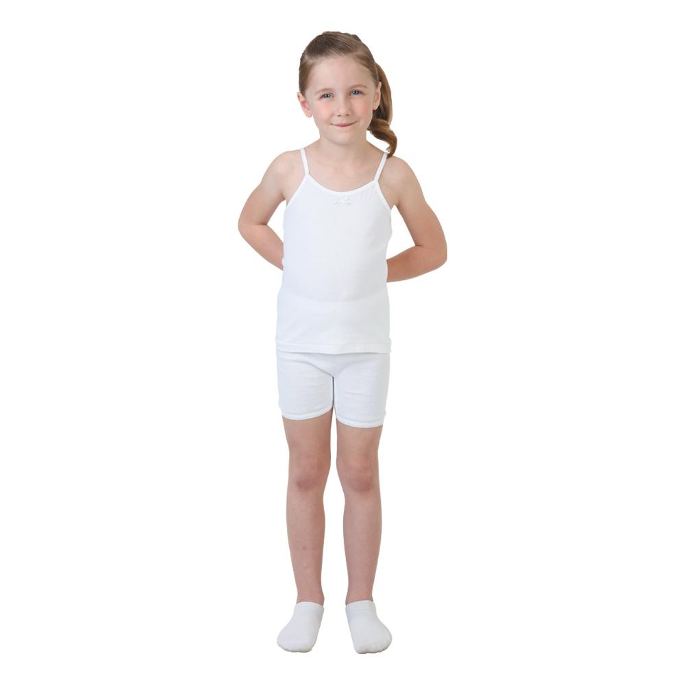 Try Girl Camisole and short Set White, 3-4 Years