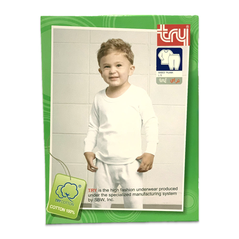 Try Unisex Thermal Set White, 18 Months