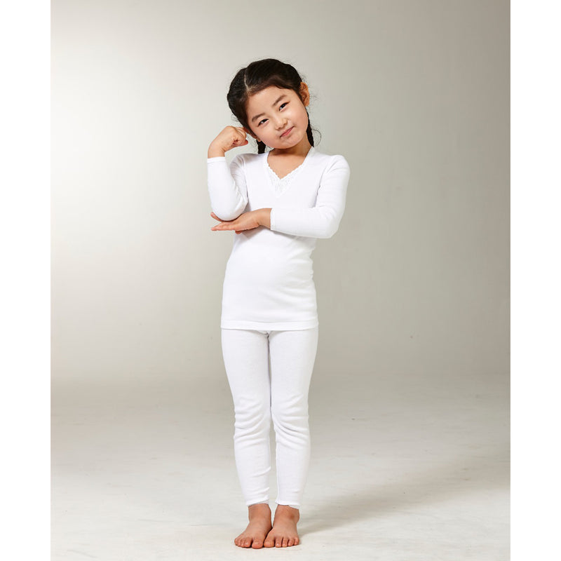 Try Girl Thermal Set White, 3-4 Years